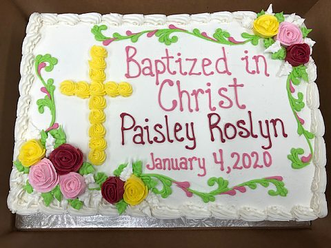Baptism multi-pink and yellow