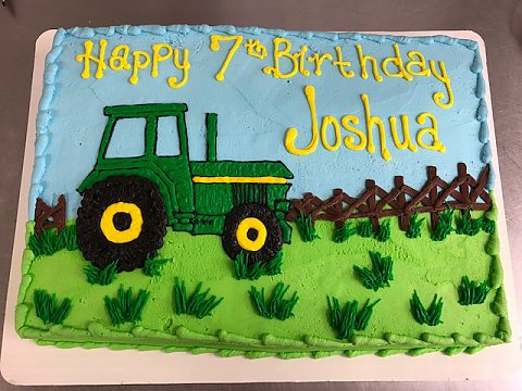 birthday - tractor in field