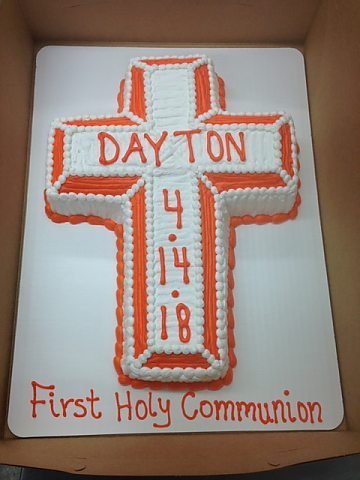 holy communion - two tone cross