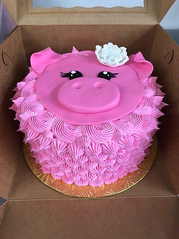 Round Pink Pig