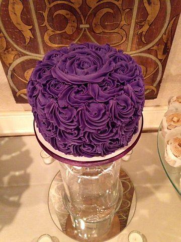 Purple Rosette Round
