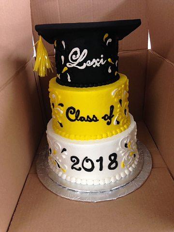 cake - graduation 3 tier