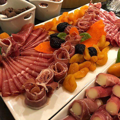 Charcuterie - prosciutto and mozzarella