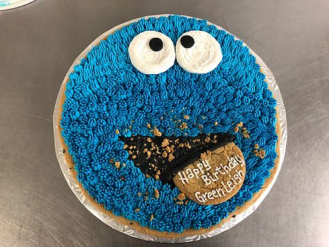 cookie cake - cookie monster