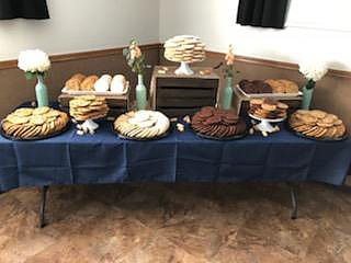 Variety of cookies, display