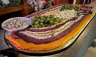 Large Summer Sausage & Cheese Platter