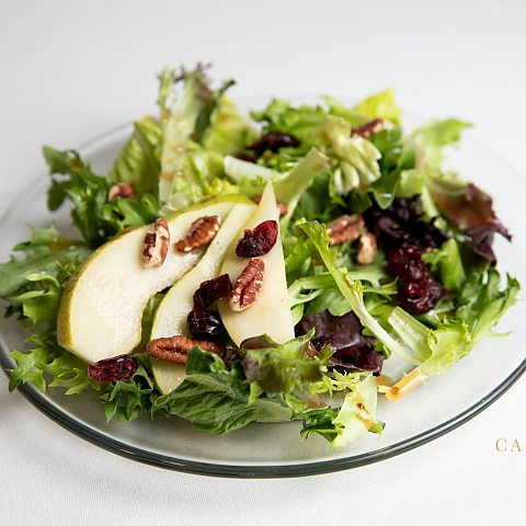 maple glazed pear salad
