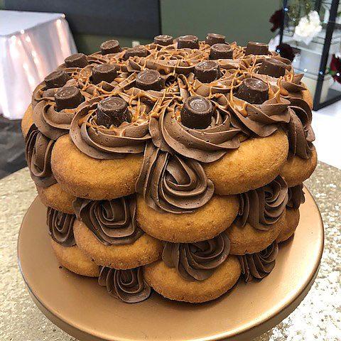Rolo Donut Cake
