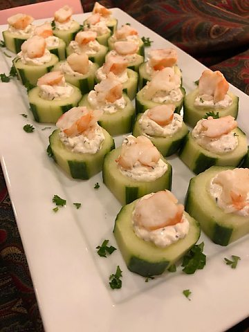 Cucumber with Dill & Shrimp
